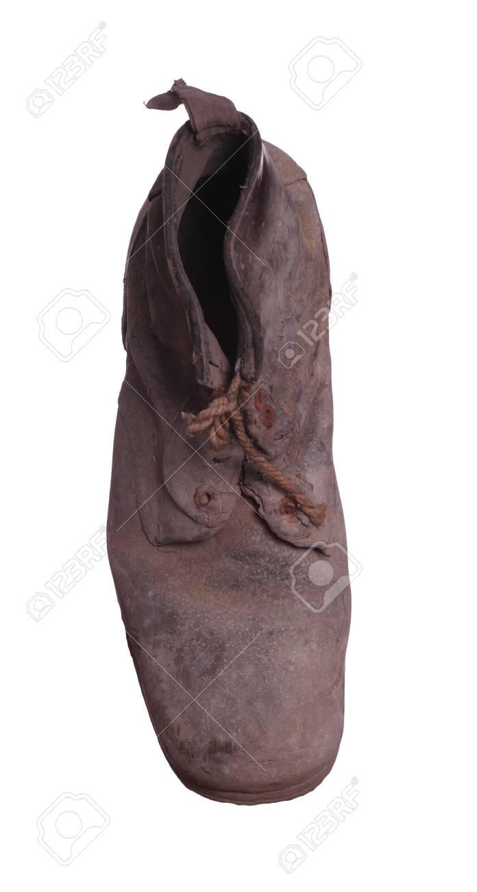 topview of shabby boot Stock Photo - 17612272