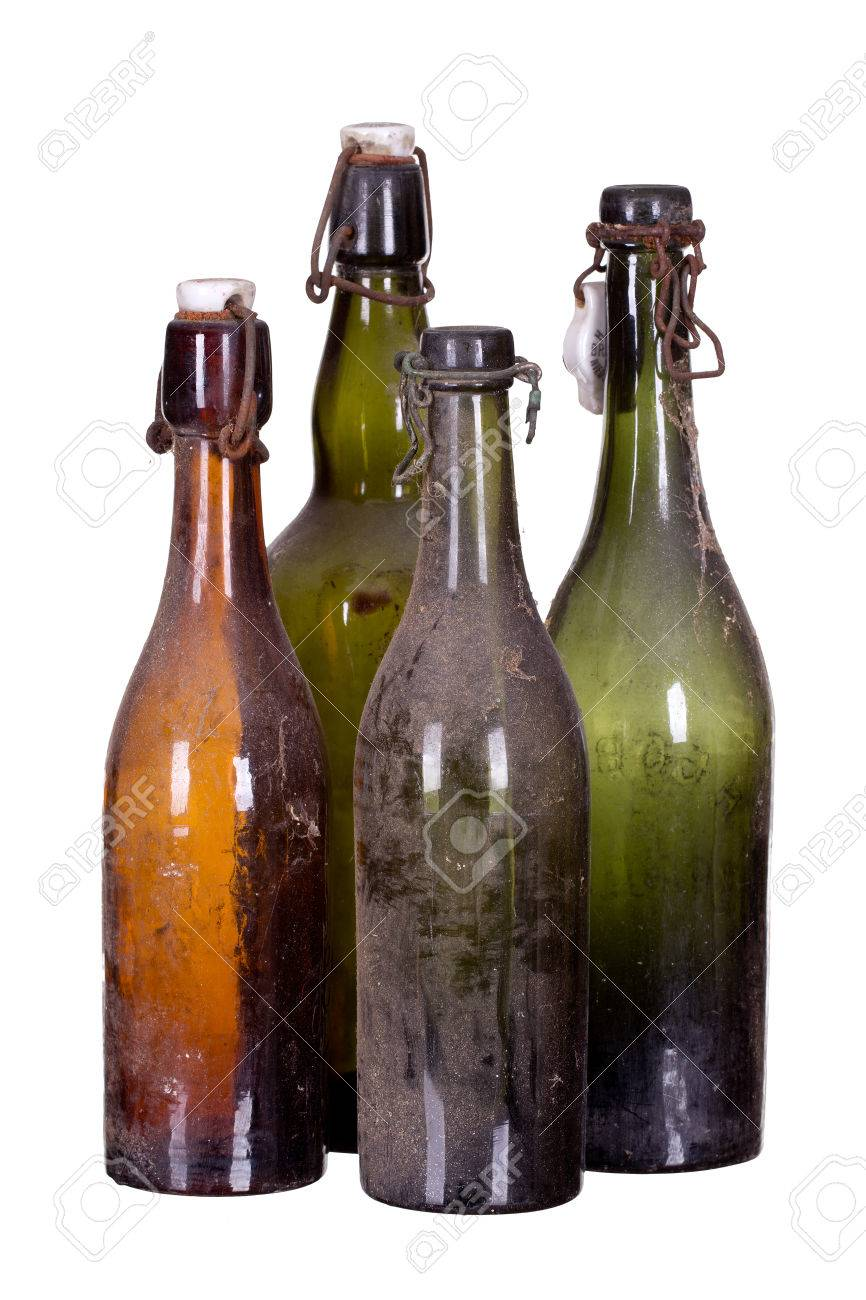concept very old dusty bottles Stock Photo - 25821067