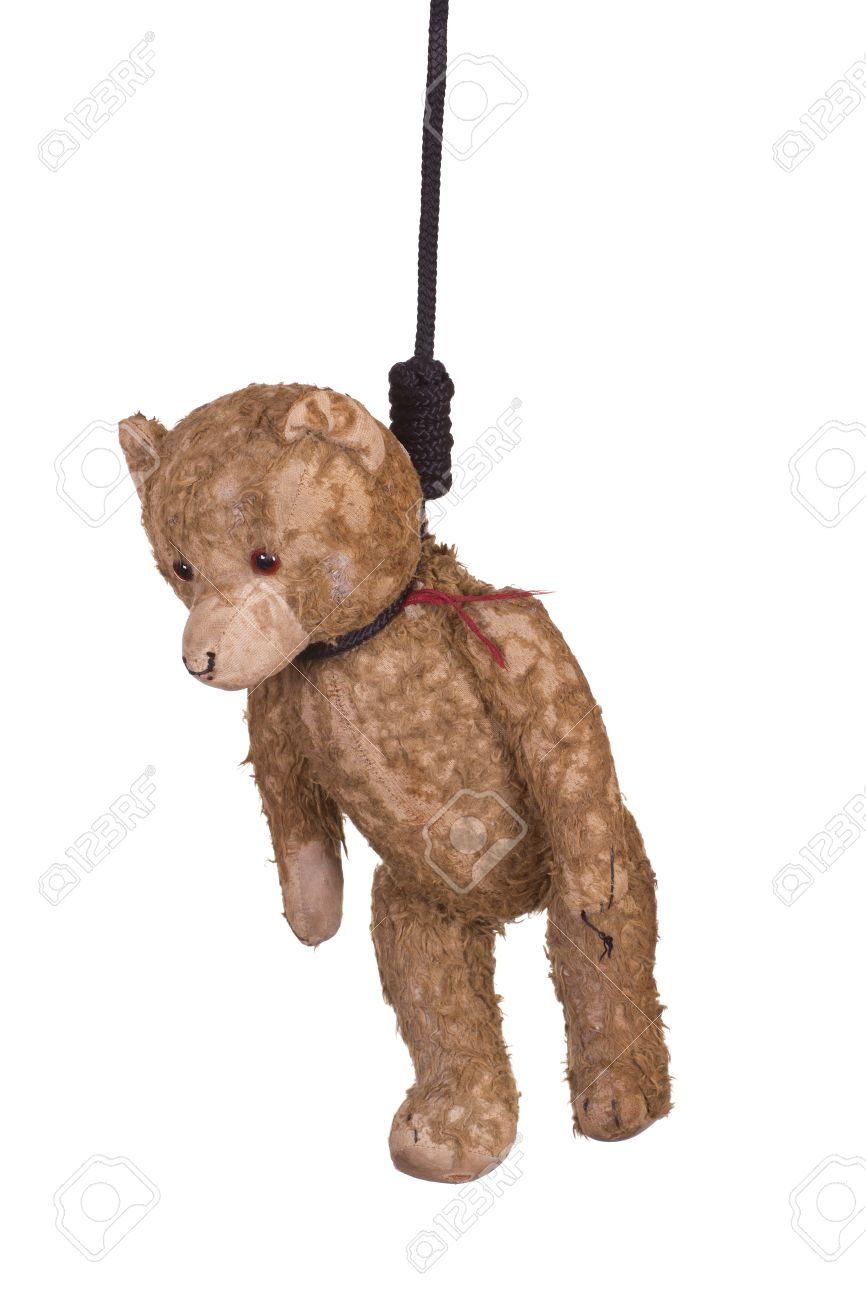 26968005-old-teddy-bear-hanging-on-gibbe