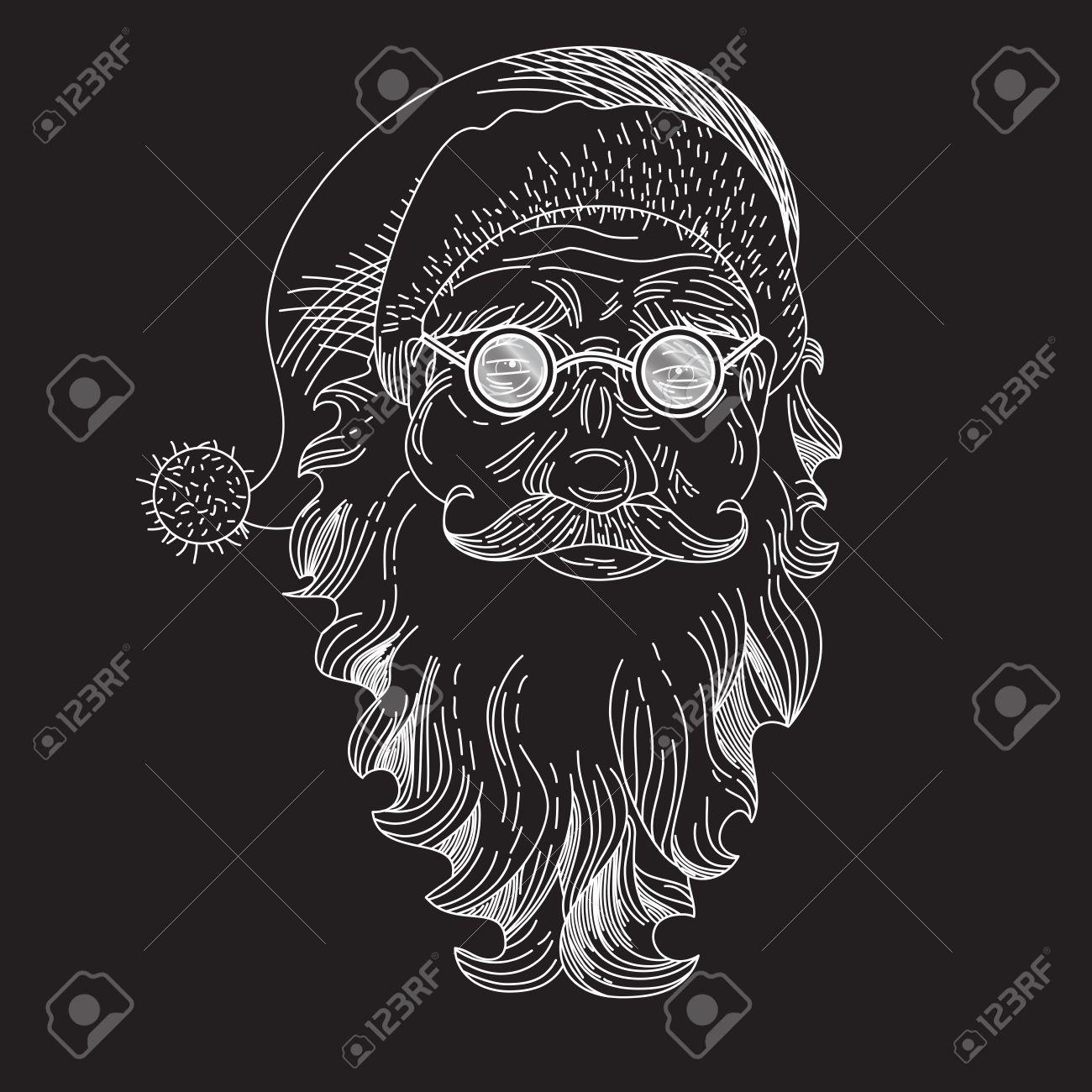 Christmas Card With Santa Claus Santa Claus Face Greeting Card