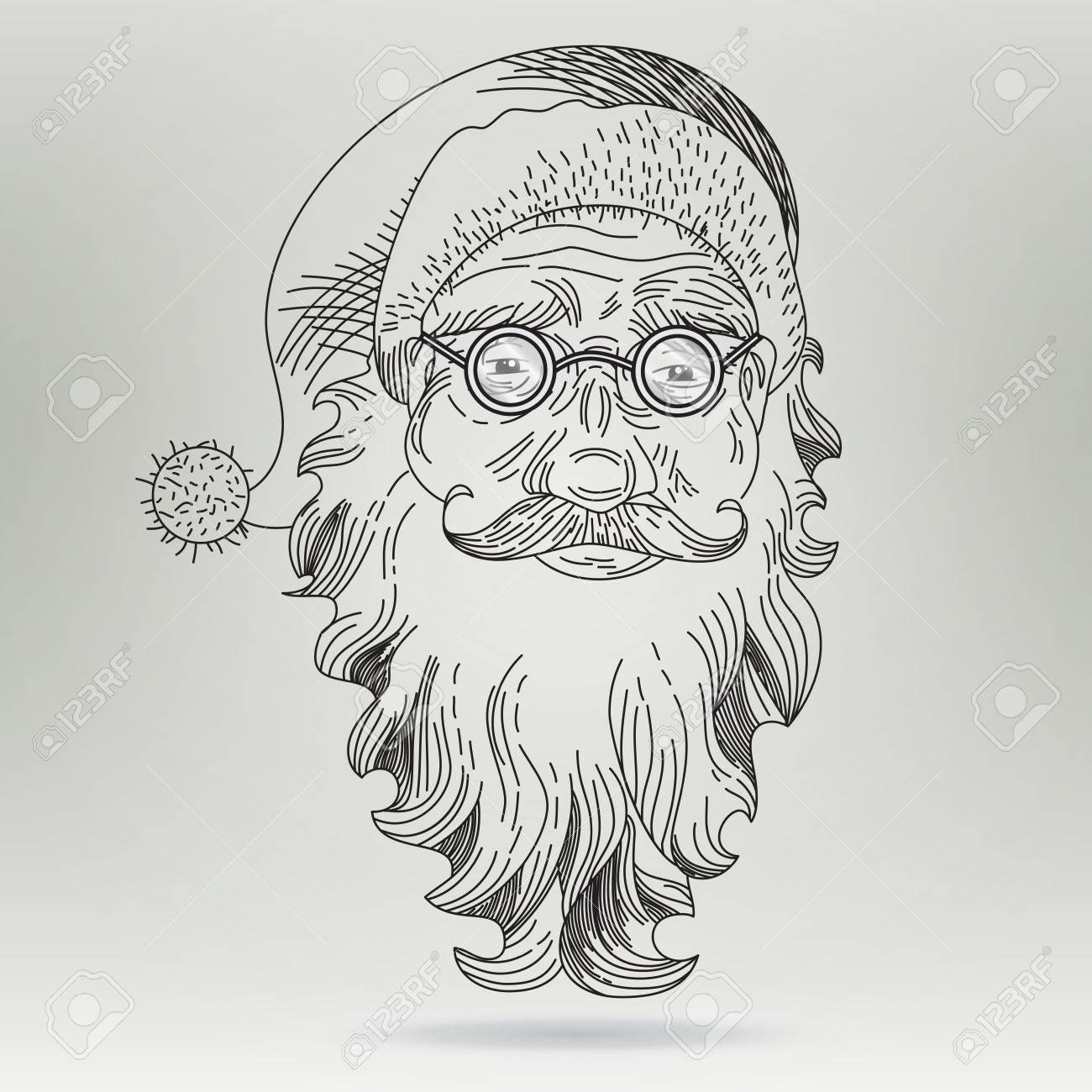 Schön Malvorlagen Santa Claus Gesicht Fotos - Beispiel Business ...