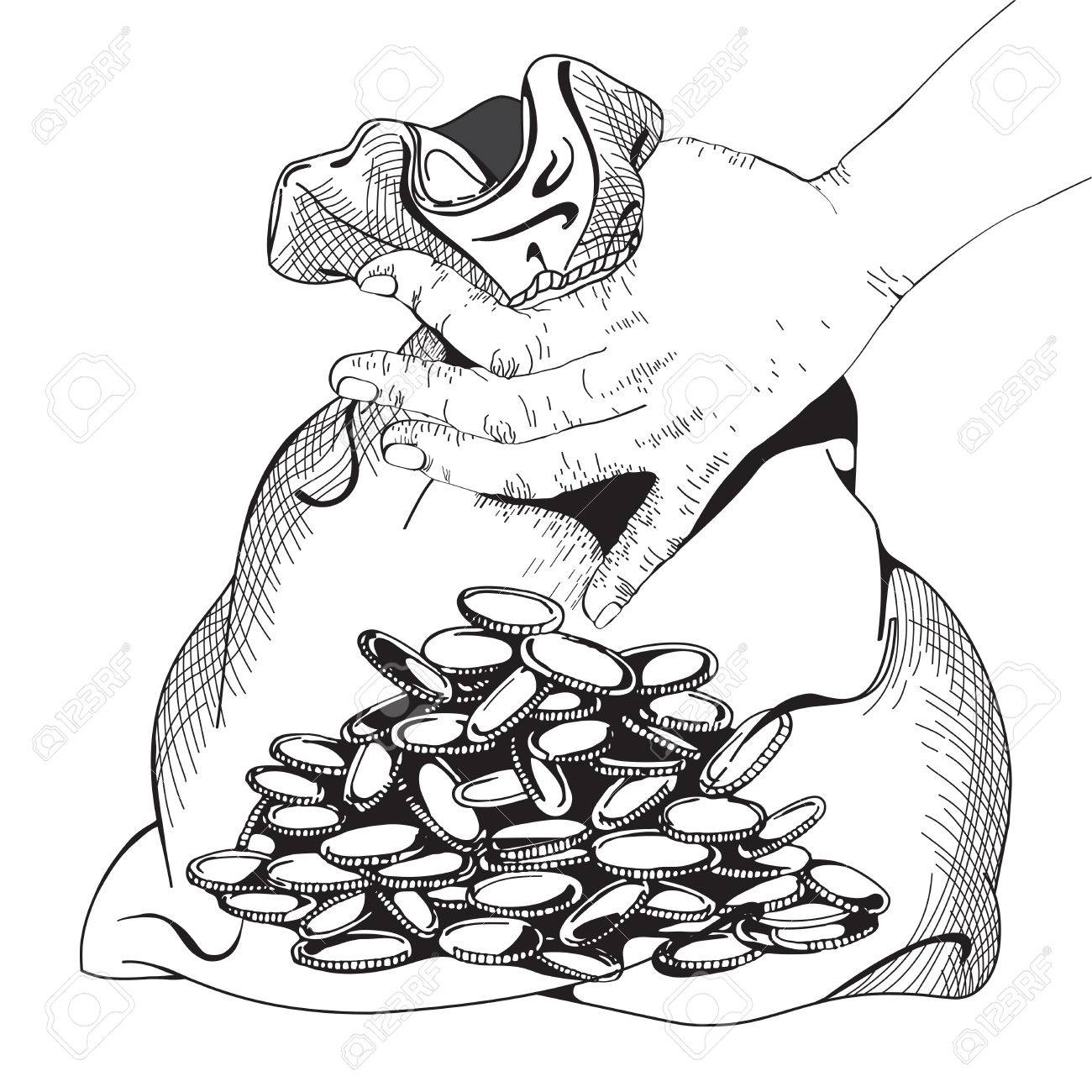 Pile Of Money Or Coins Capital How To Earn First Million Isolated  Illustration