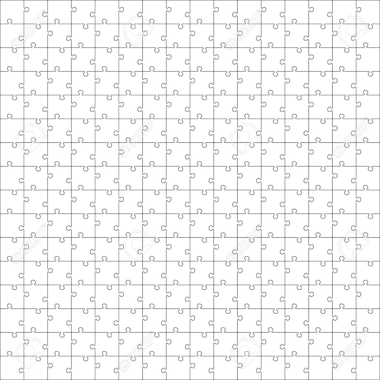 Weiß-Puzzle. Nahtlose Puzzle Textur. Puzzle-Vorlage. Cutting ...