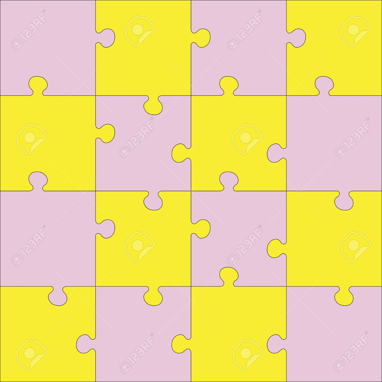 Color Jigsaw Puzzle Every Piece Is A Single Shape Seamless Texture