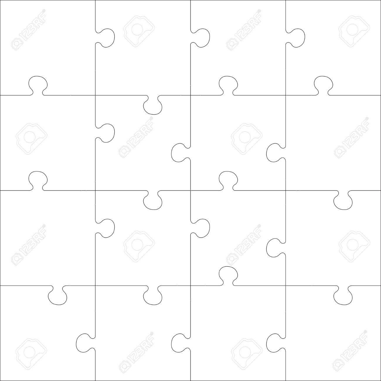 White Jigsaw Puzzle Every Piece Is A Single Shape Seamless
