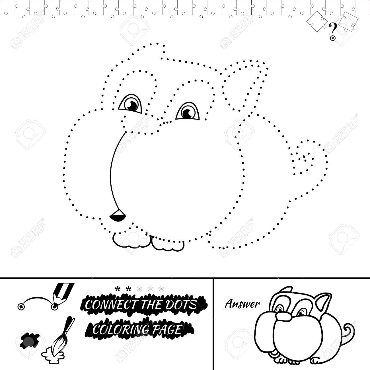 connect the dots picture and coloring page puzzle for kids