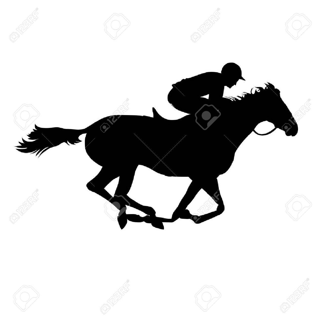 Horse Race Derby Equestrian Sport Silhouette Of Racing Horse Royalty Free Cliparts Vectors And Stock Illustration Image 40256659