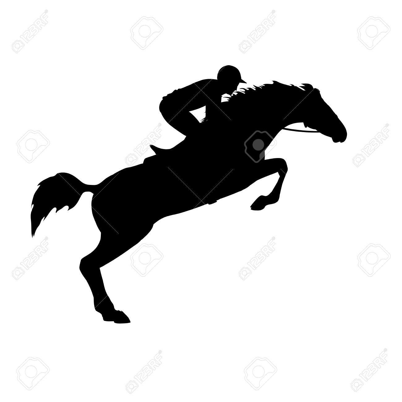 Horse Race Horse And Rider Racing Horse And Jockey Silhouette Royalty Free Cliparts Vectors And Stock Illustration Image 40257834