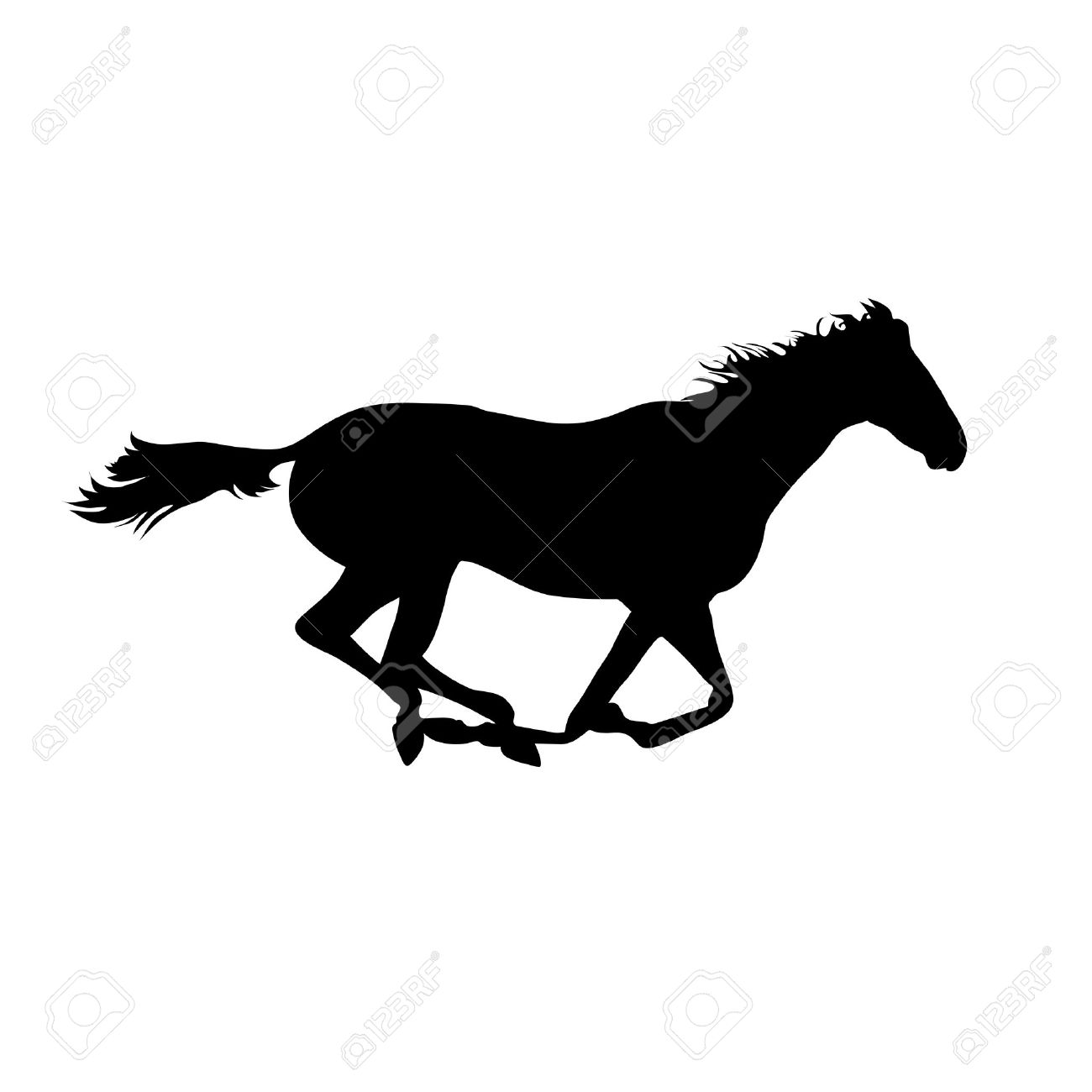 Vector Horse Images Silhouette Horse Drawings Horse Posters Royalty Free Cliparts Vectors And Stock Illustration Image 40263537