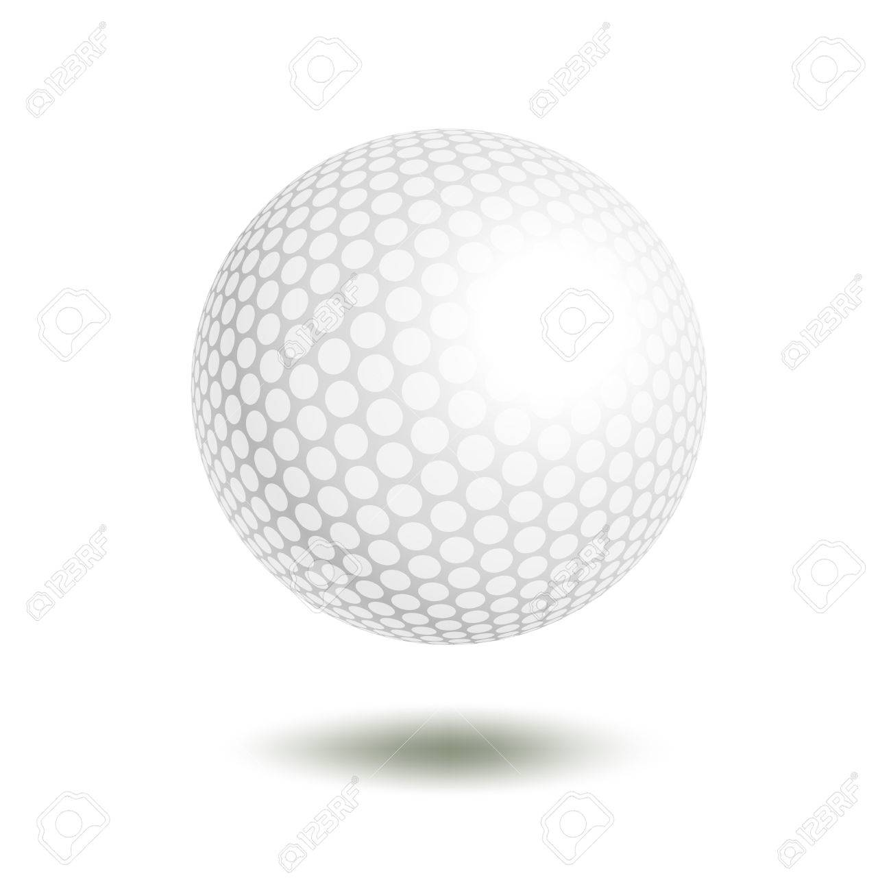 vector golf ball isolated on white golf ball vector illustration