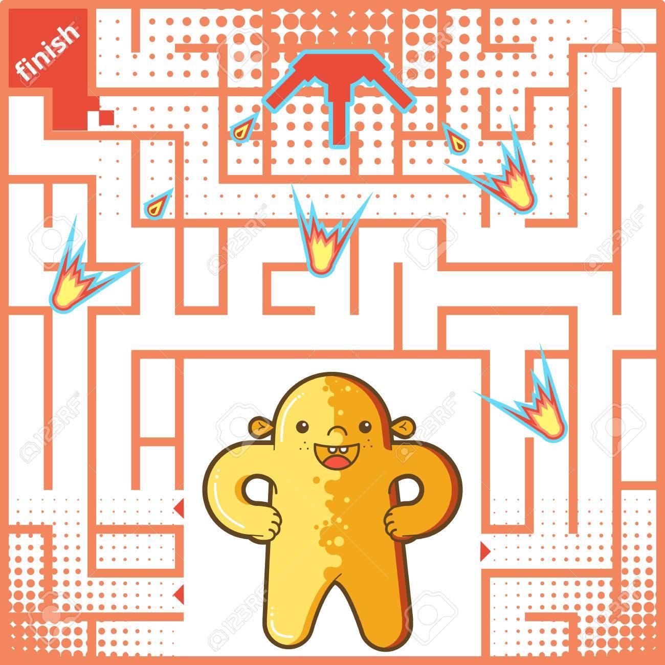 子供のための面白い迷路ゲーム迷路や幼児用迷路ゲーム迷路パズル