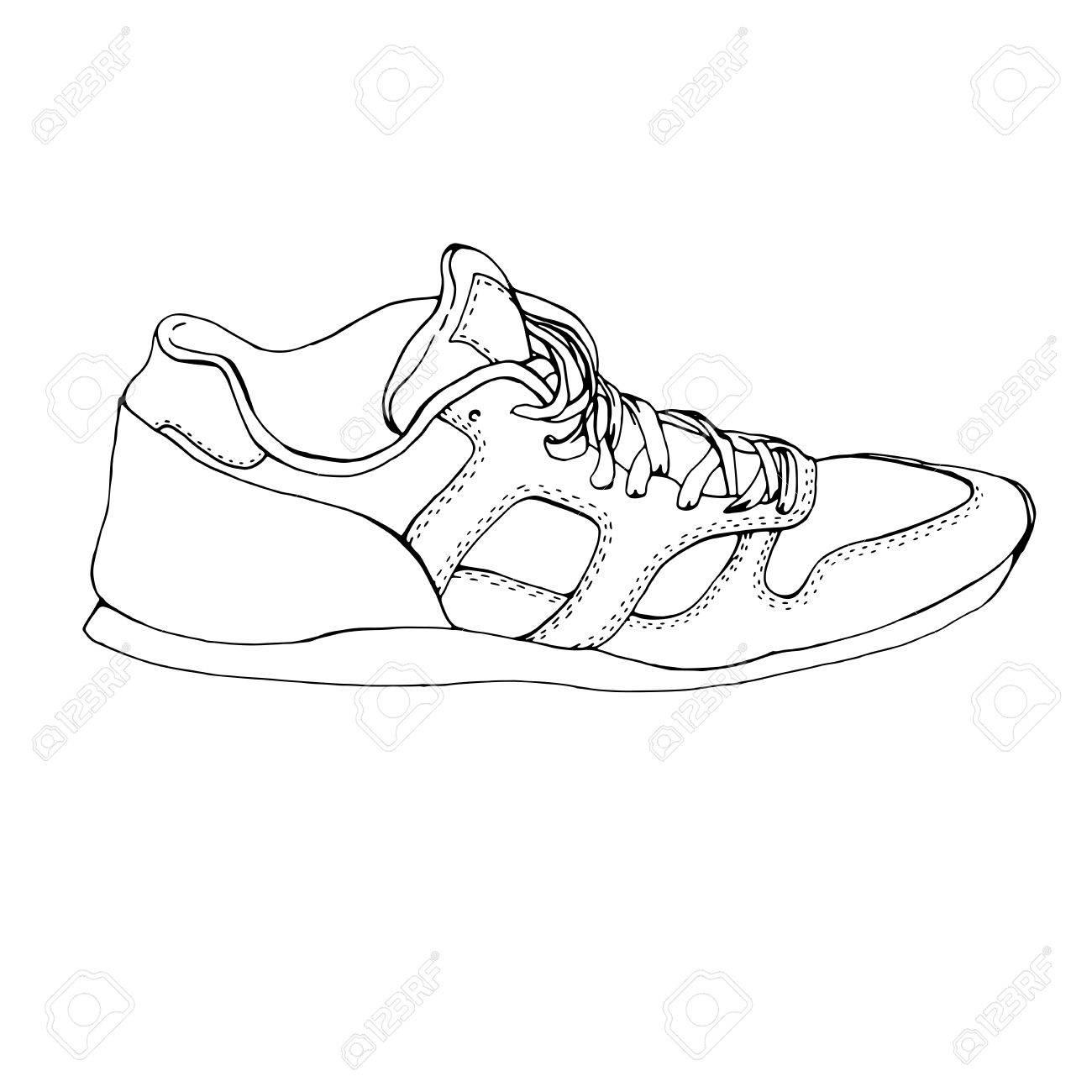 FormeVéritable Sneaker Des La De En Remise Dessin TempletOriginal À Baskets Chaussure MainSymbole SportIcôneSketch 0w8nkPNXO