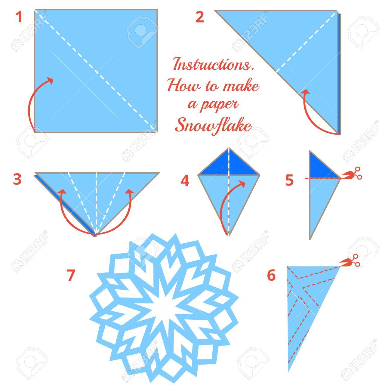 Anleitungen Wie Sie Papier Schneeflocke Zu Machen Weihnachten