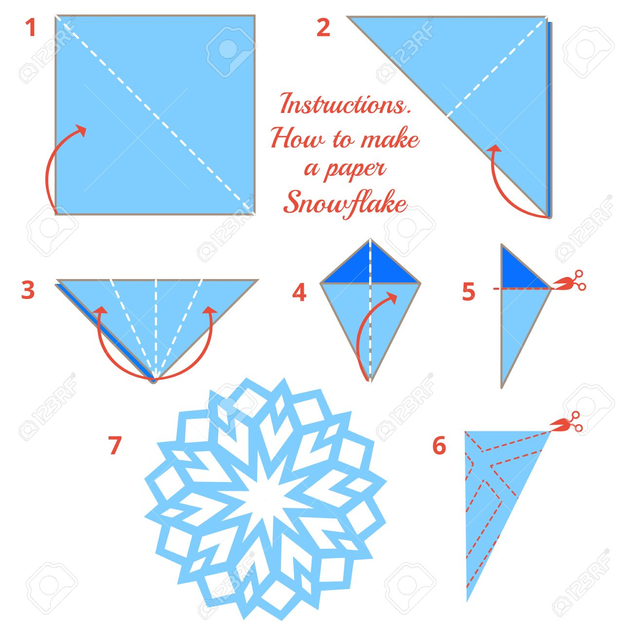 Origami Snowflake Diagrams Electrical Drawing Wiring Diagram