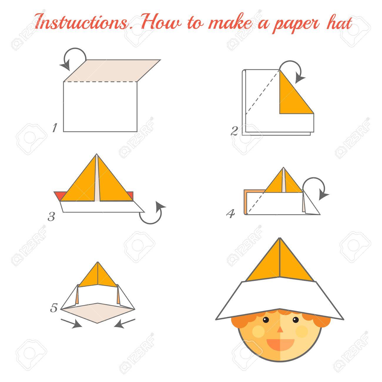 Anweisungen Wie Man Papier Hut Zu Machen Tutorial Hut Von Papier