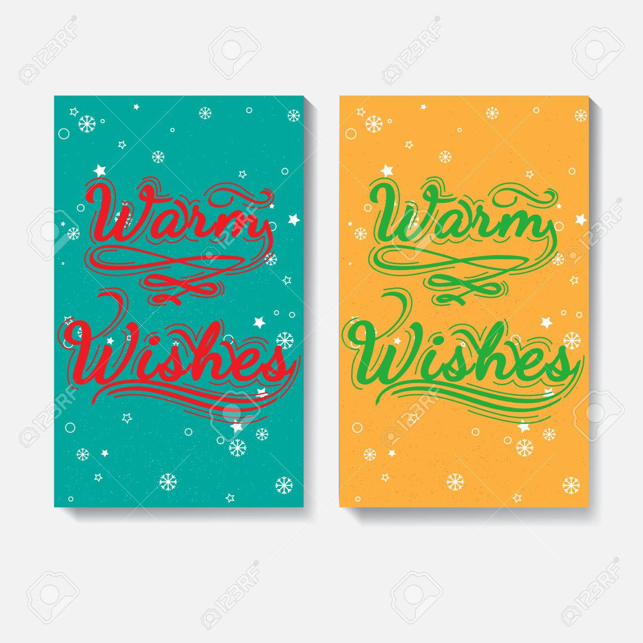 Christmas Letter Ideas. Warm Wishes - Quote. Hand Drawn Lettering ...