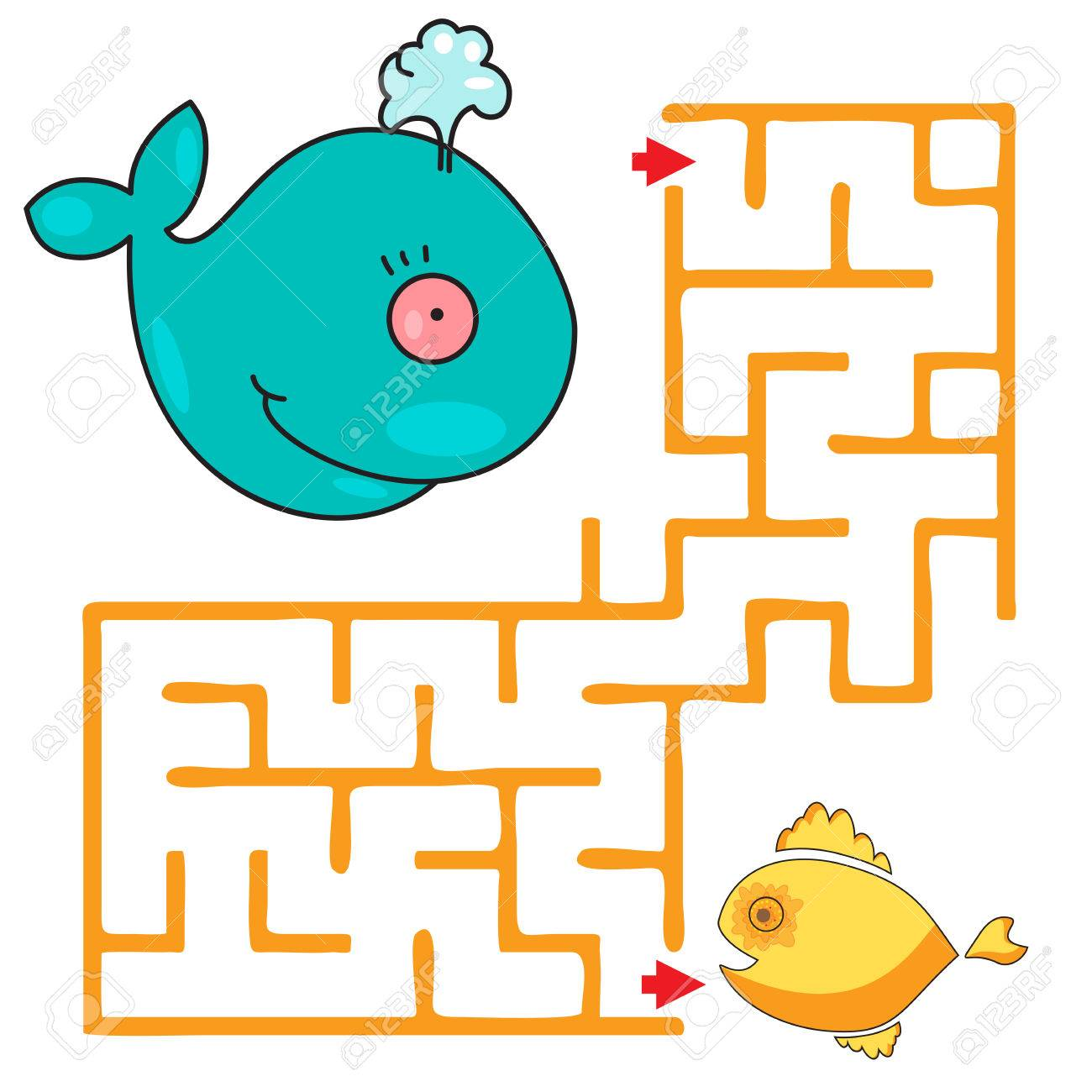 Funny maze game for child  kids games with cute whale