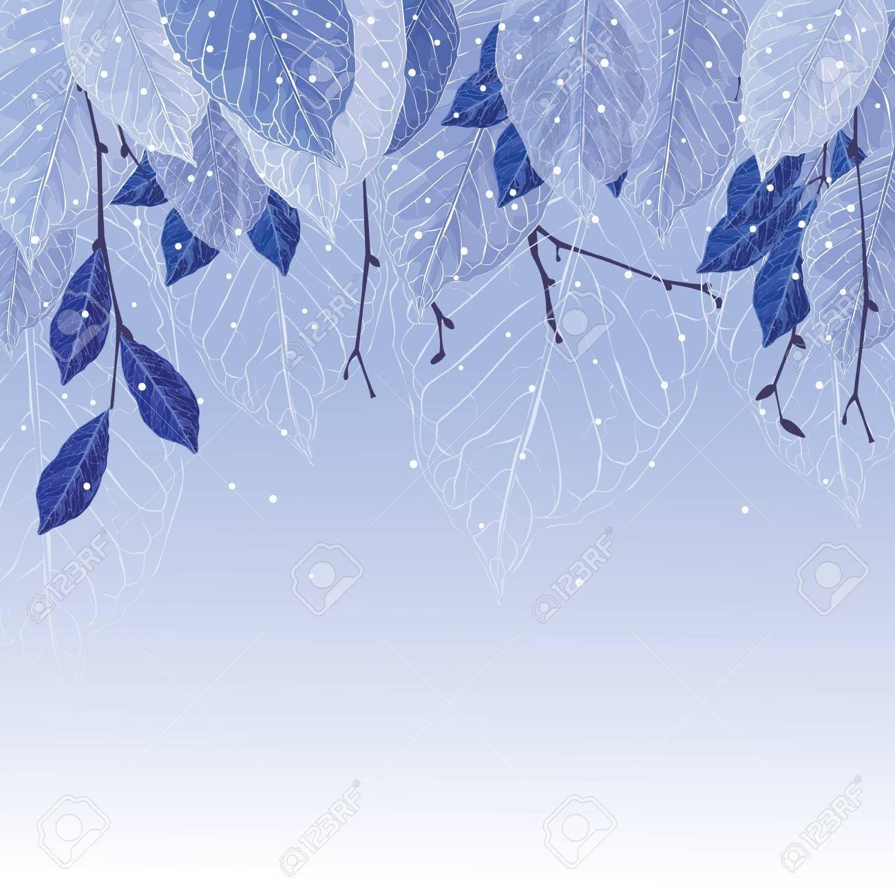 Hojas Cubiertas Con La Helada, Fondo De Invierno. Hojas Congeladas ...