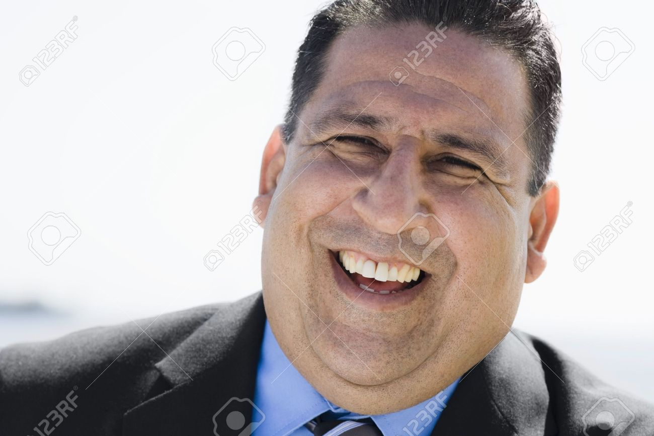 Portrait of an Overweight  Businessman Smiling To Camera Stock Photo - 5663441