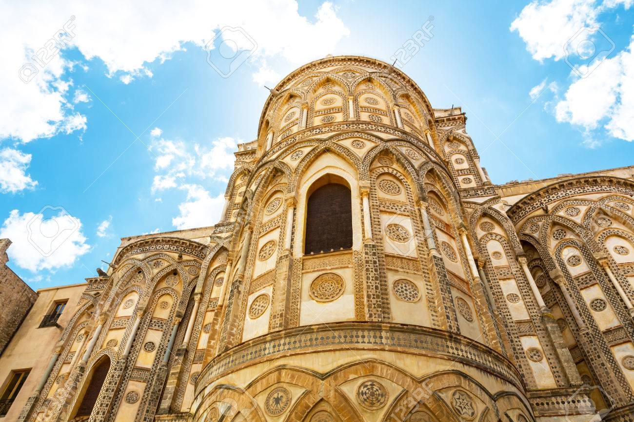 monreale cathedral n he palermo sicily italy stock photo