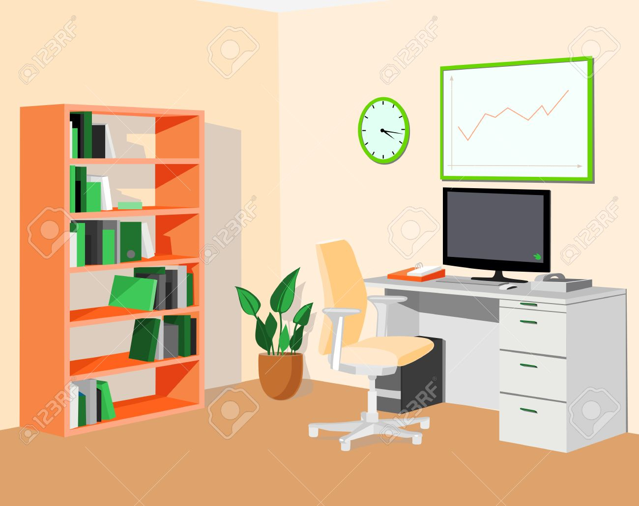 eco office. Green Orange Eco Office. Vector Illustration Stock - 36202196 Office G