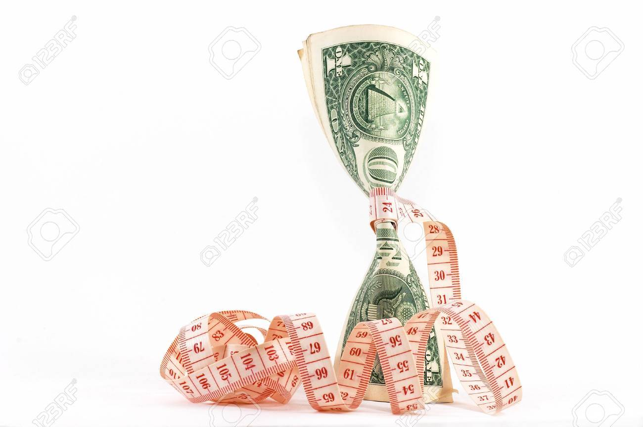 Measuring Tape Over Money Budgeting Measure Tight Budget Upright