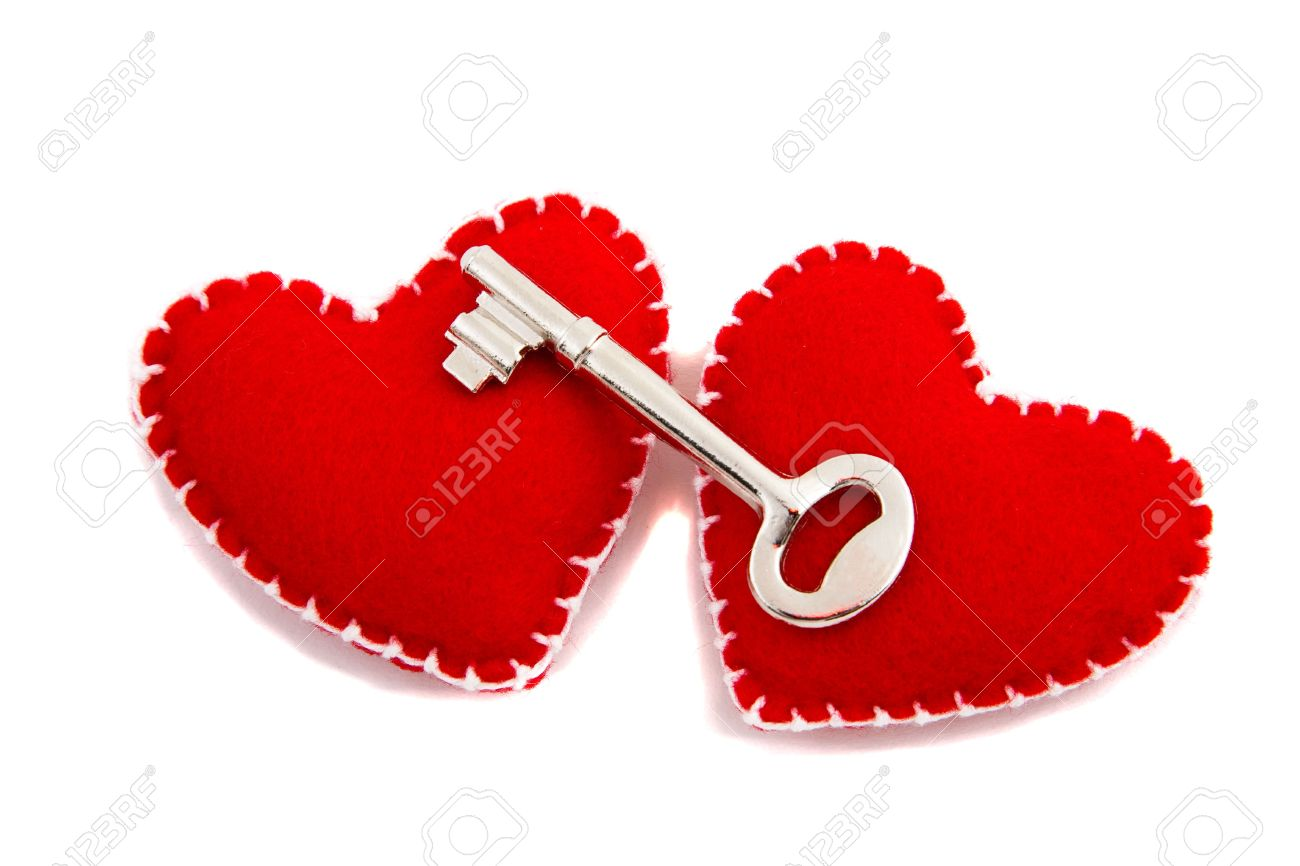 Two Hearts And A Key To Signify Opening Of One\'s Heart To Love ...
