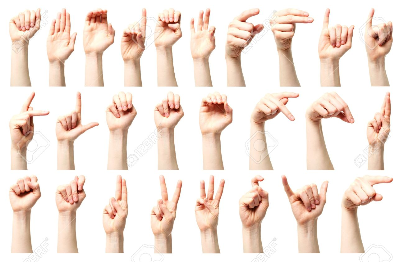 Sign Language A Collage The American Sign Language Alphabet