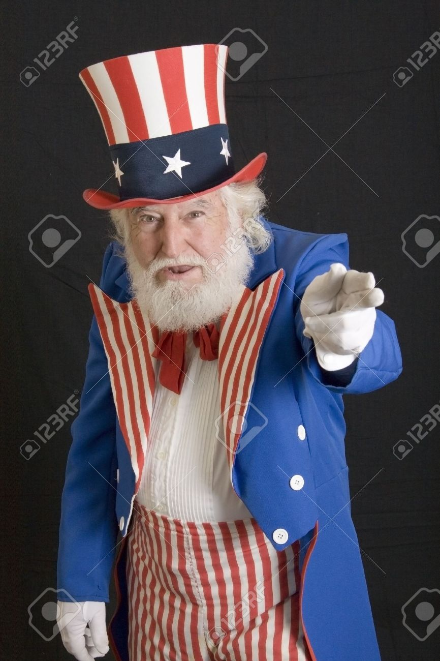 an old man dressed as uncle sam - 2704931