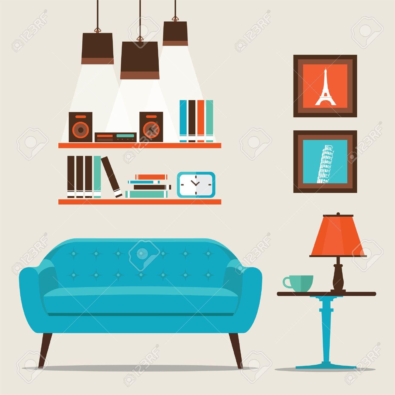 Interesting Living Room Illustration Ideas
