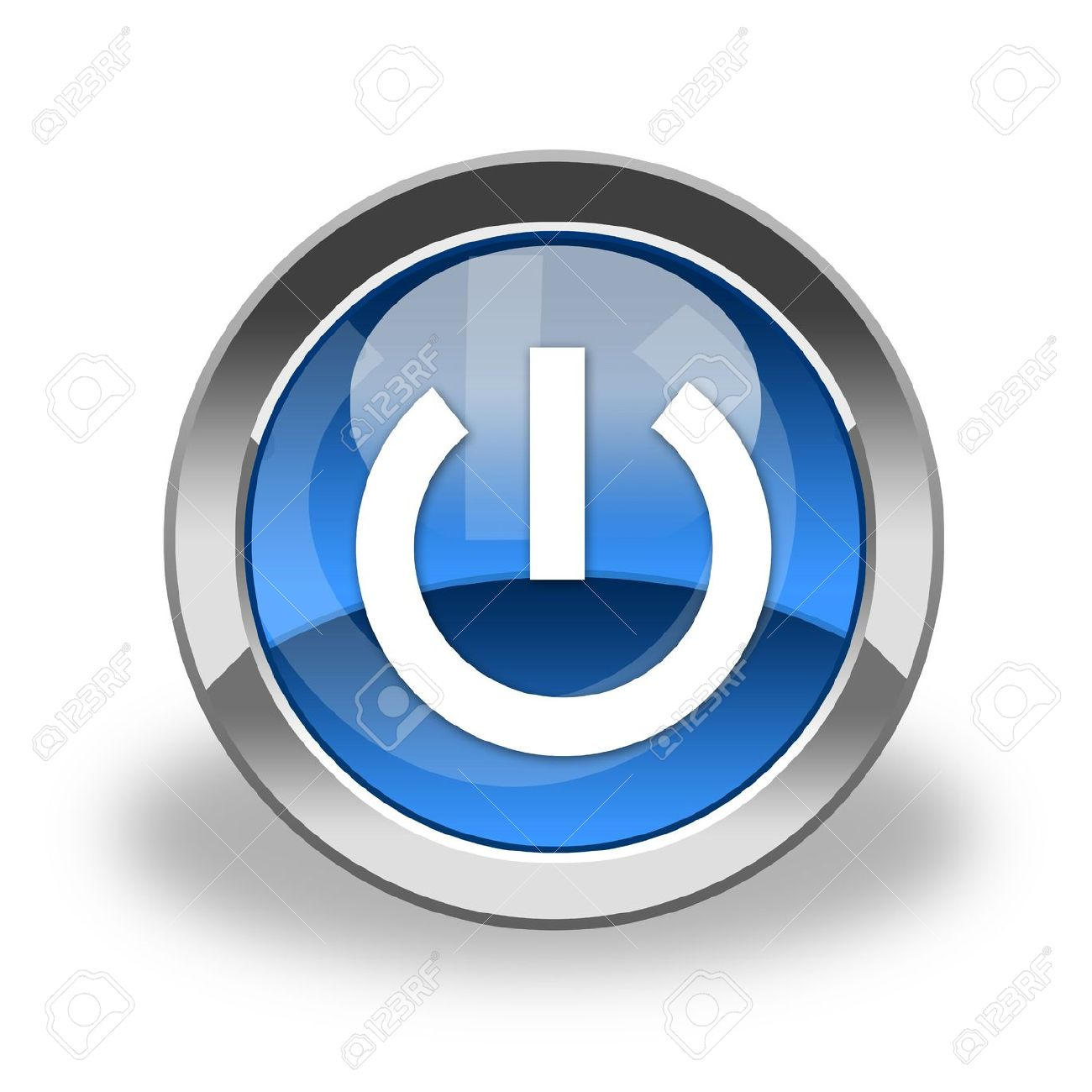 power button, icon Stock Photo - 6129174