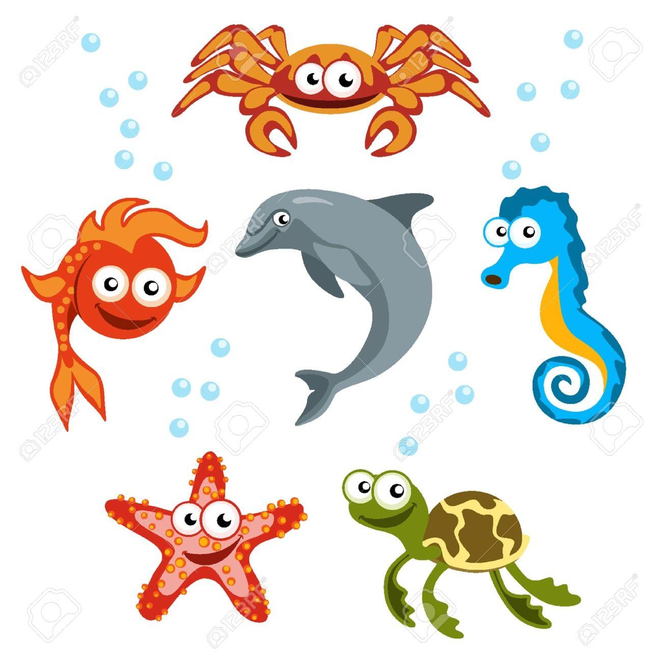 Criaturas del mar Foto de archivo - 18134195