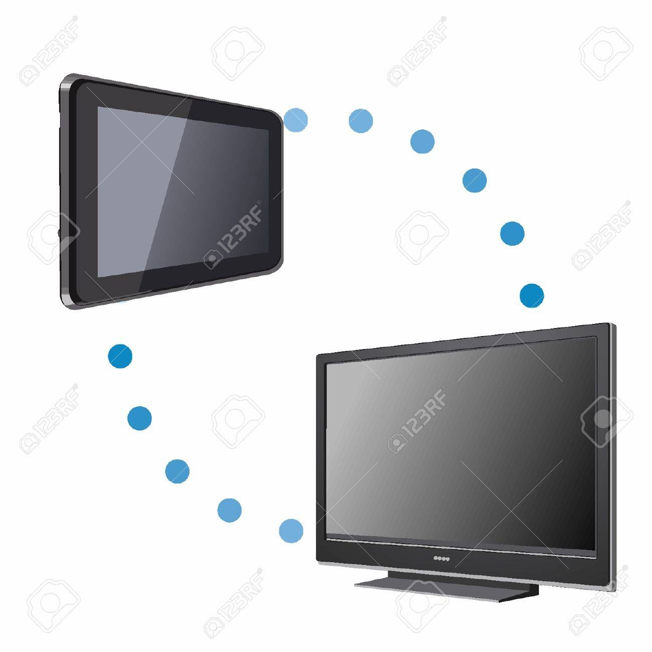 Tablet PC and TV connectivity Stock Vector - 18134199