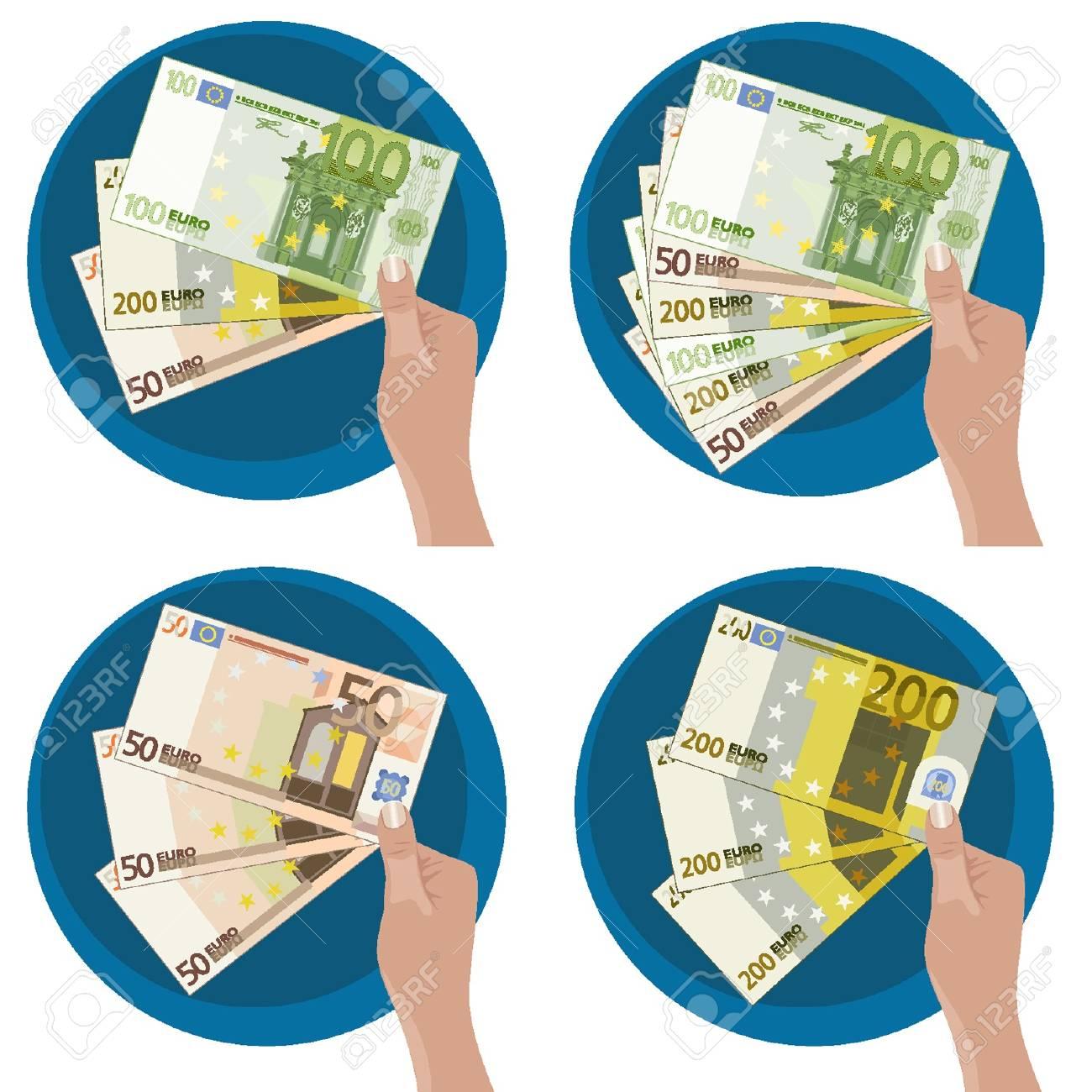 Manos que muestran el dinero Foto de archivo - 18134333