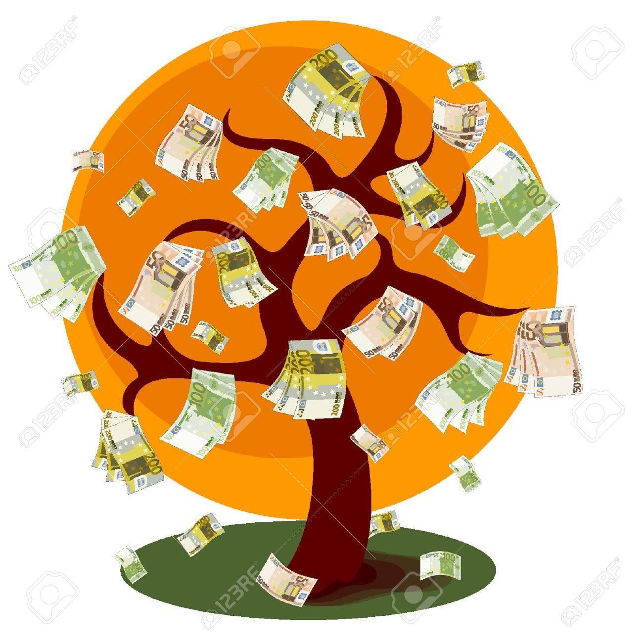Dinero árbol Foto de archivo - 18134354