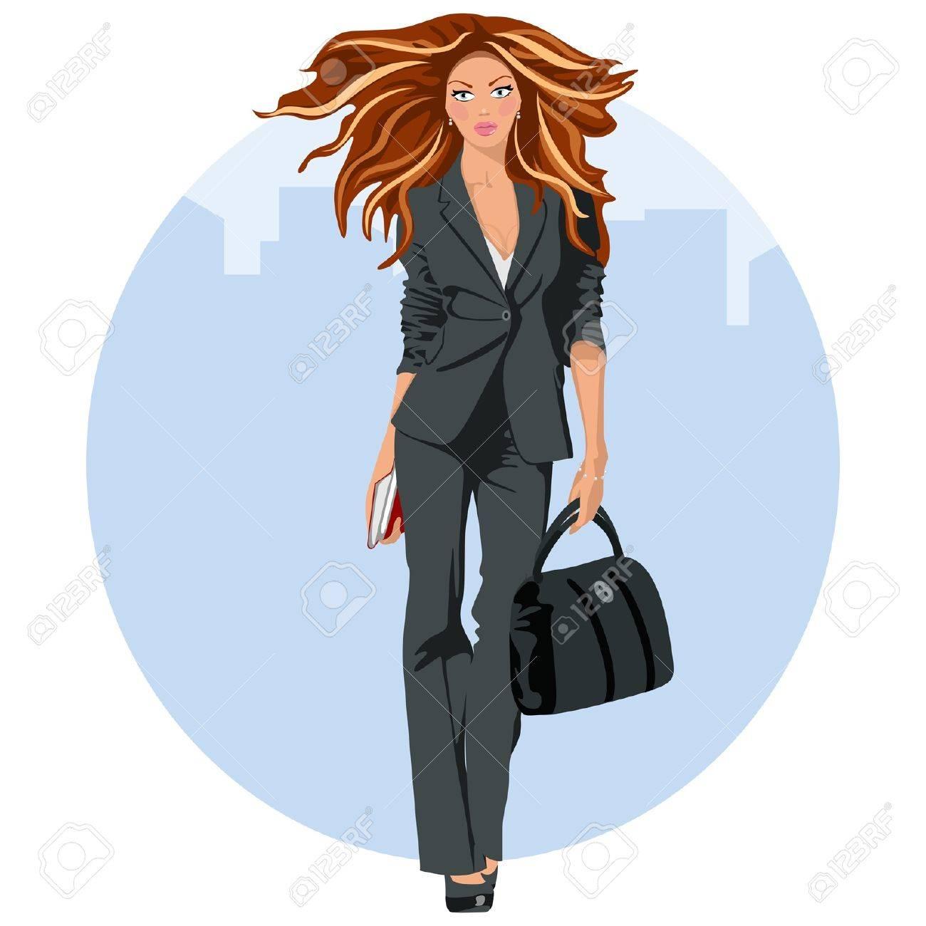 Mujer de negocios elegante Foto de archivo - 18134253
