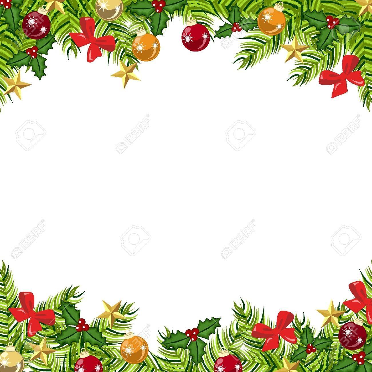 Antecedentes bolas, regalos de Navidad y estrellas Foto de archivo - 18134321