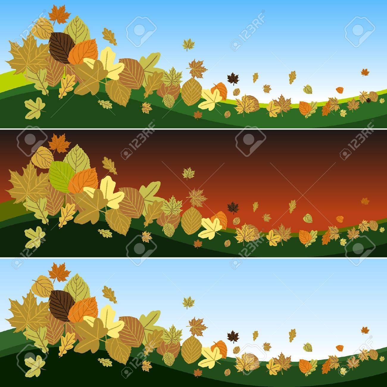 Hojas de otoño en el viento Foto de archivo - 18134345