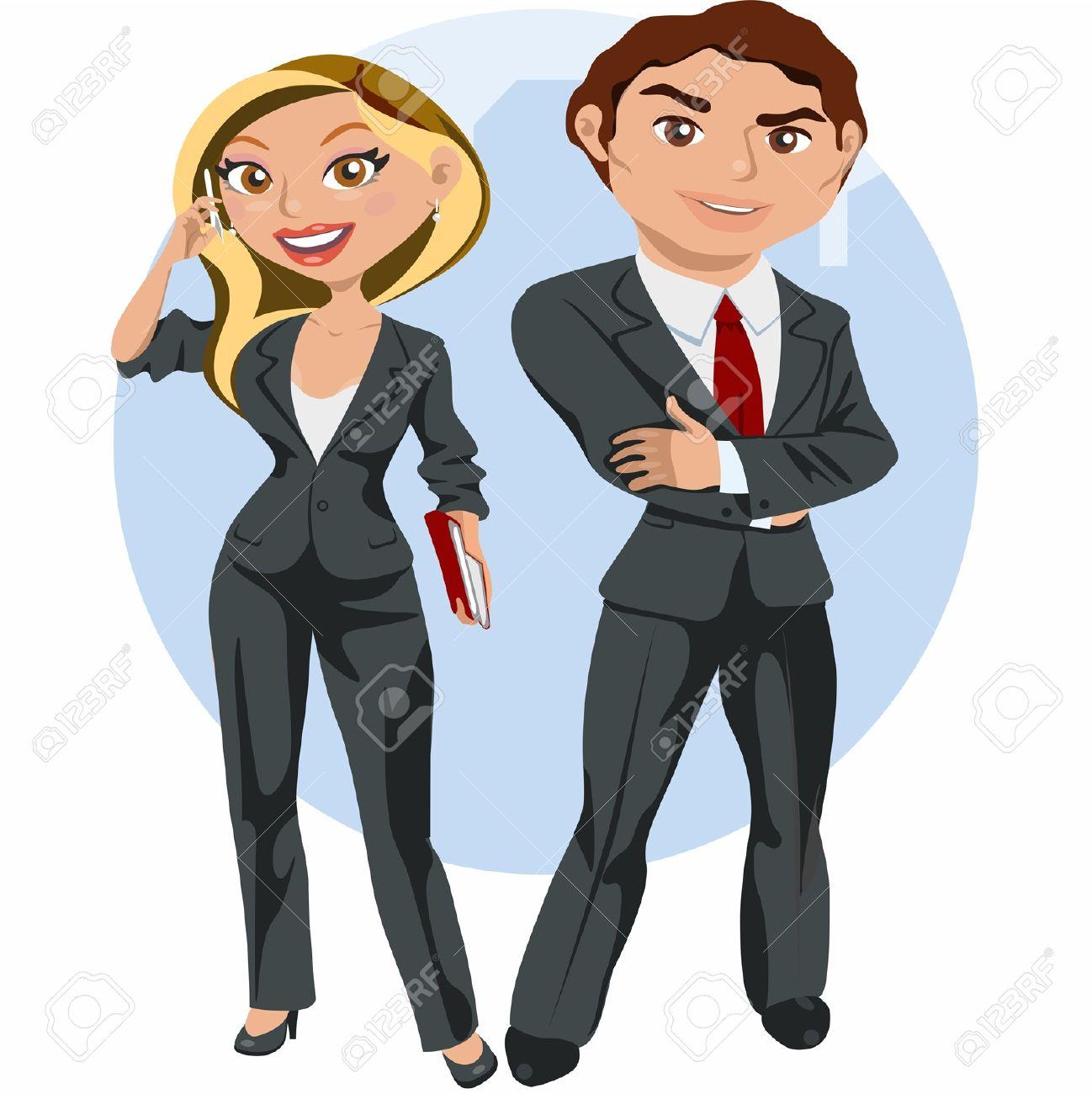 Hombre y mujer de negocios elegante Foto de archivo - 18166530