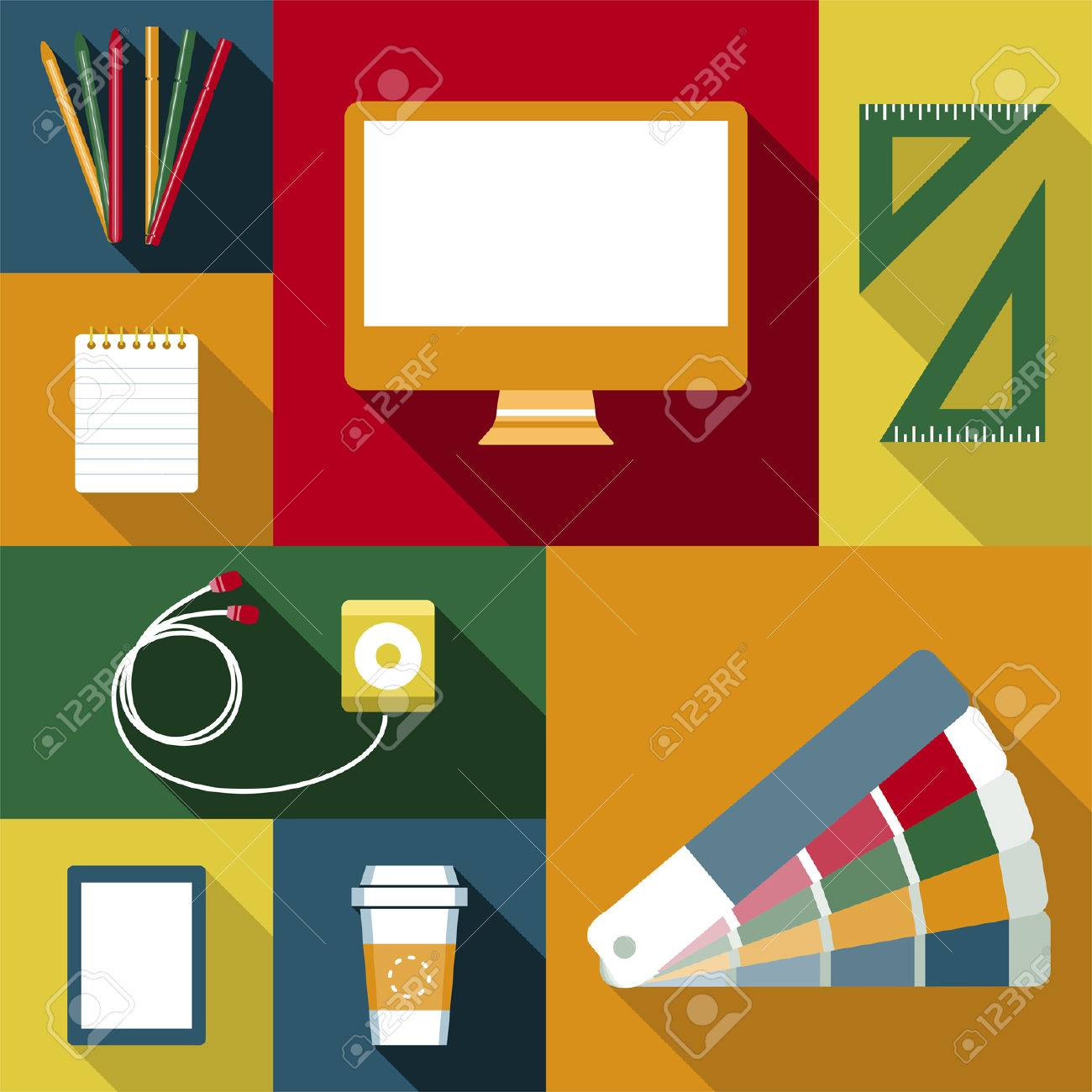 Trabajo Objetos diseñador Foto de archivo - 25427359