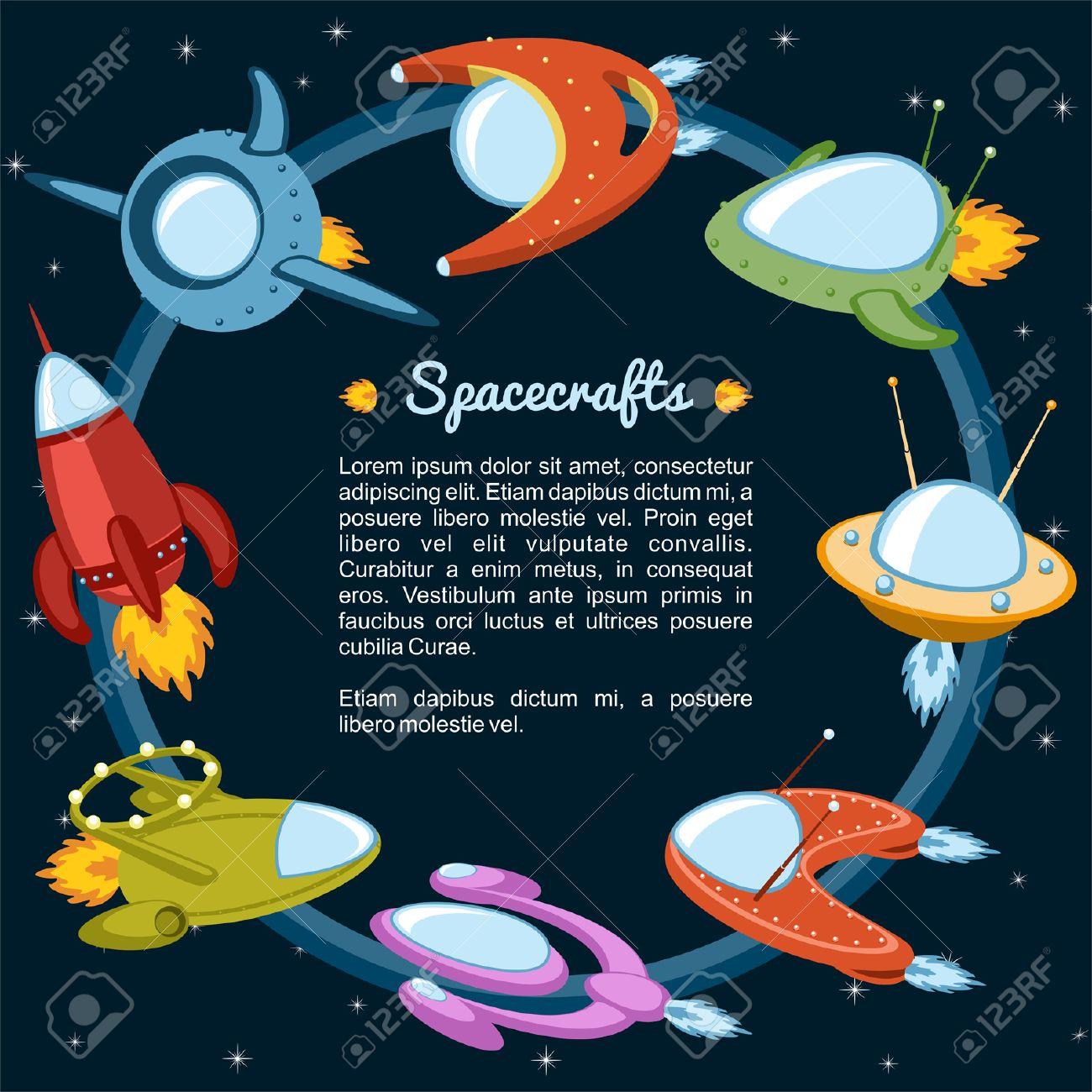 Las naves espaciales y cohetes que vuelan a las estrellas Foto de archivo - 25427375
