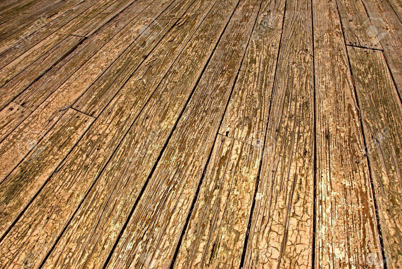 Ground Level View Of Weathered Outdoor Wood Floor Stock Photo ... - ^