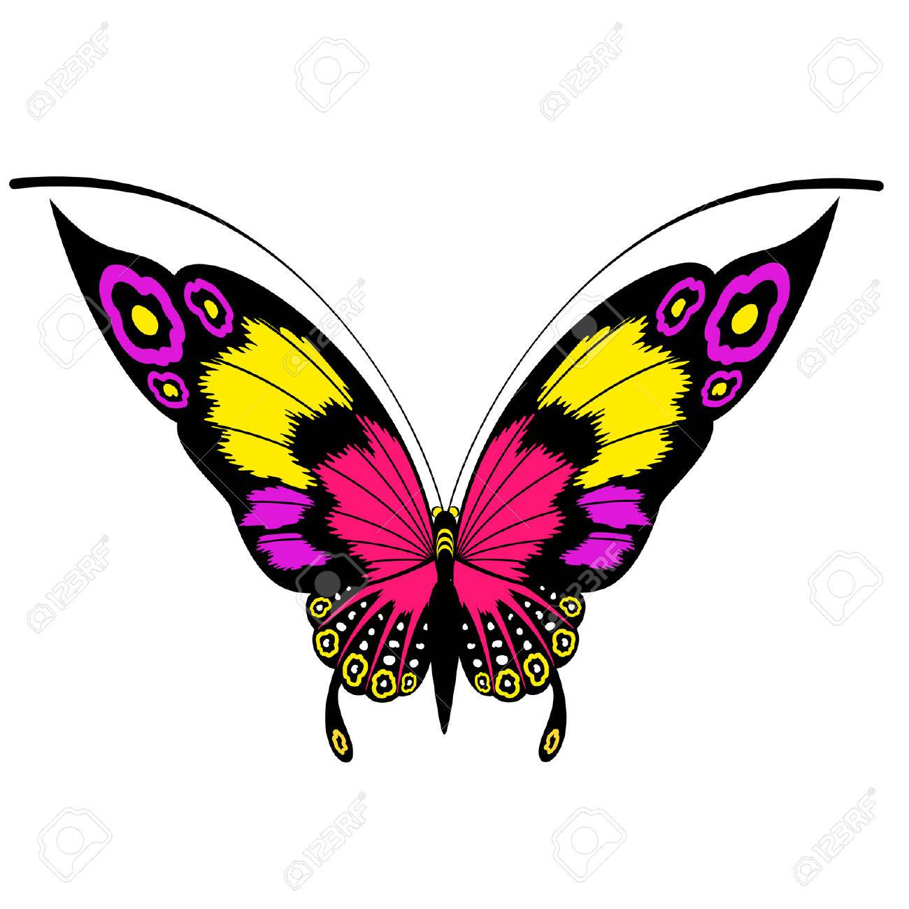 6 690 purple butterfly stock vector illustration and royalty free