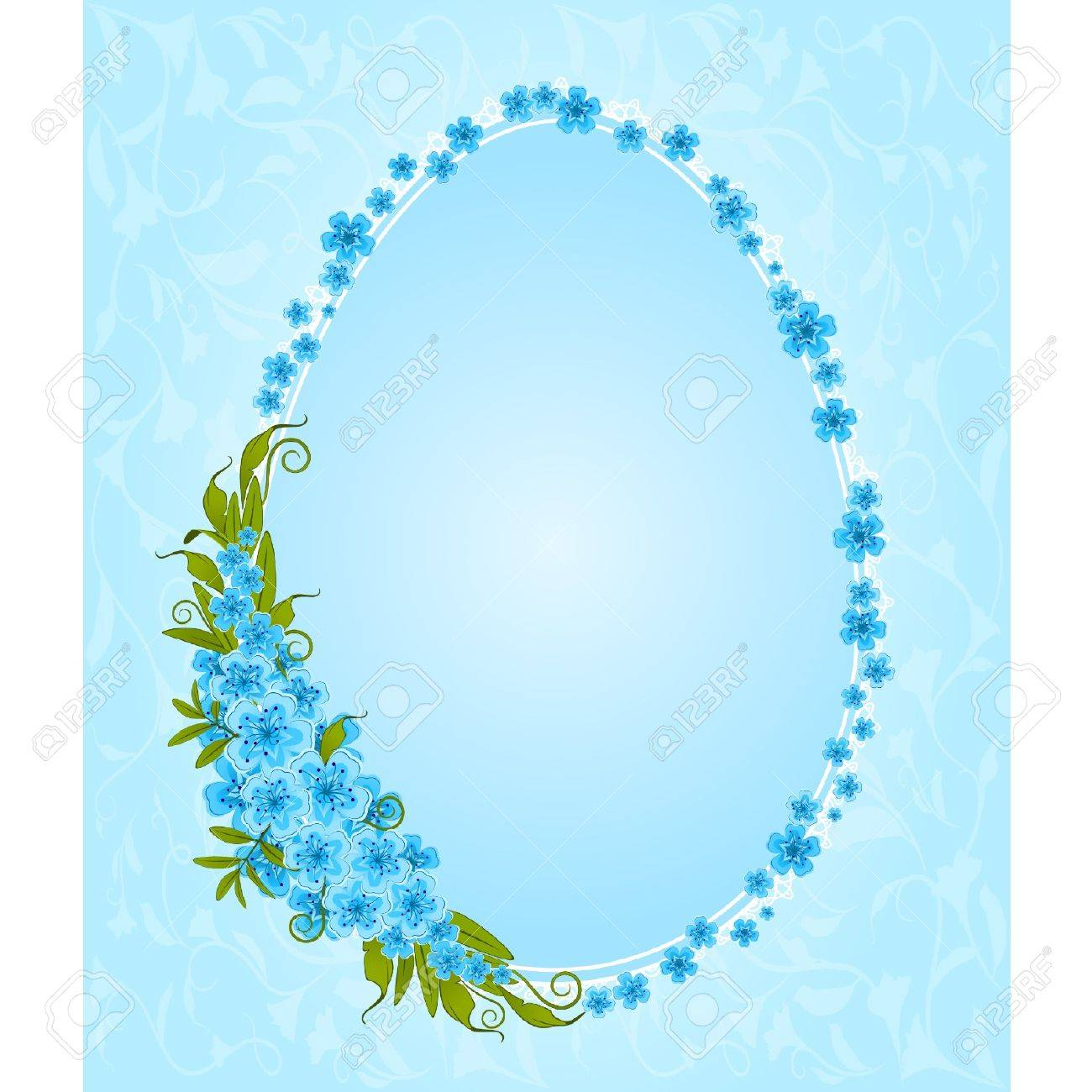 Marriage ornaments - Eggs With Lace Ornaments And Flowers Easter Card Stock Vector 9655419