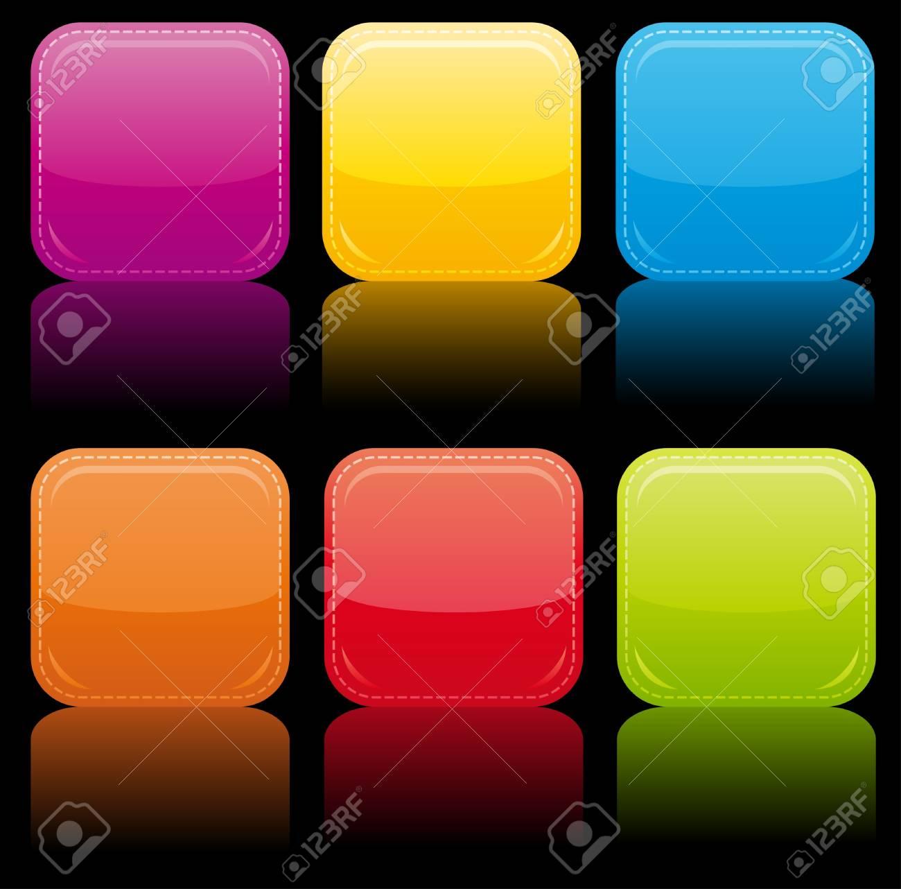 Beautiful glossy buttons. Stock Photo - 9714641