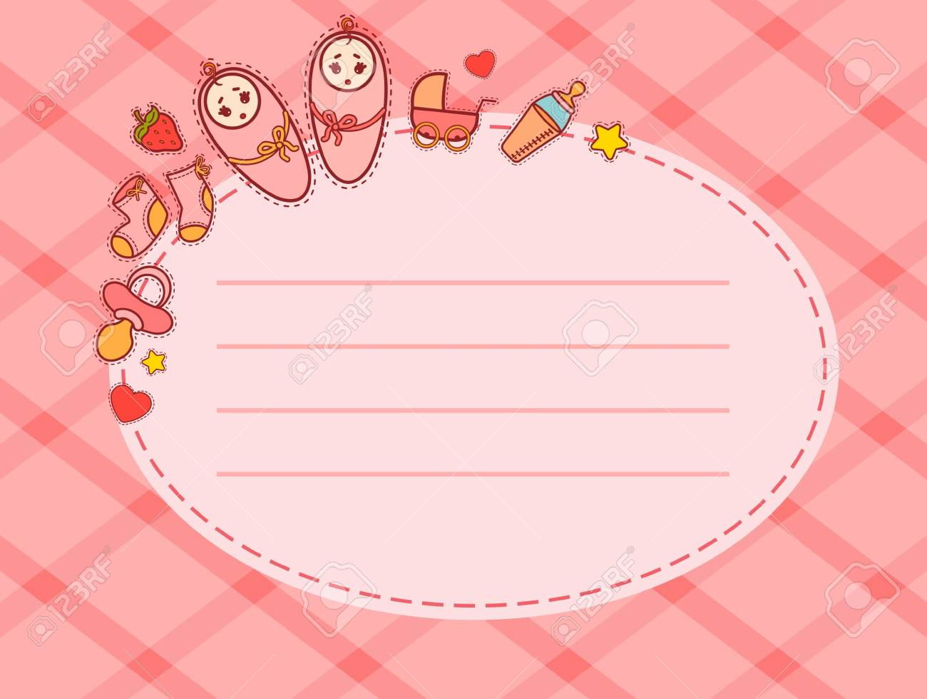 beautiful background with baby icons Stock Photo - 9832619