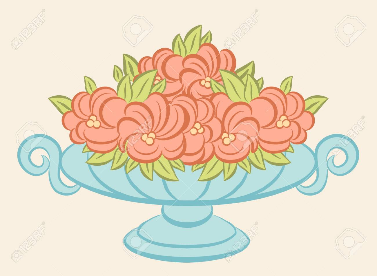 The vintage vase with flowers. Stock Photo - 10433562