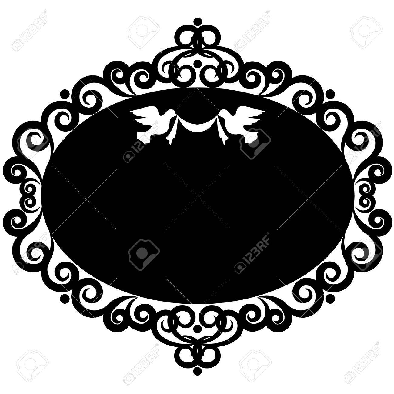 Vintage background with lace ornaments. Vector Stock Vector - 12080895