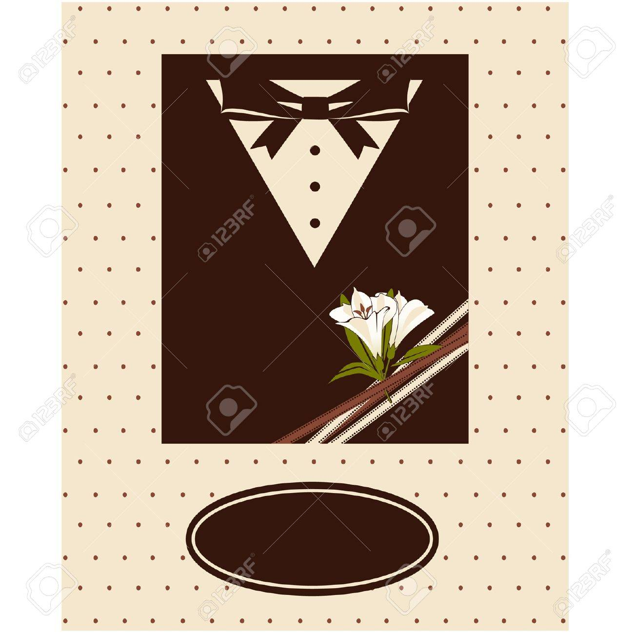 Vintage background with tuxedo shirt and bowtie close up Stock Vector - 14577285