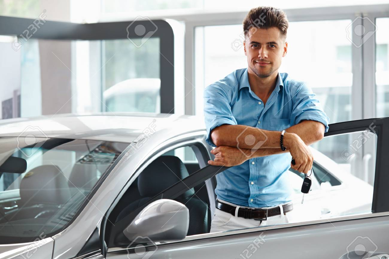 Car Showroom Happy Man With Keys To The Car Of His Dreams Stock Photo Picture And Royalty Free Image Image 39959644
